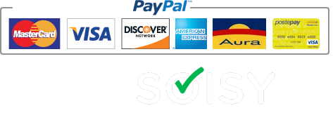 payments accepted: Mastercard, Visa, Paypal, Postepay, Carta di credito and Soisy
